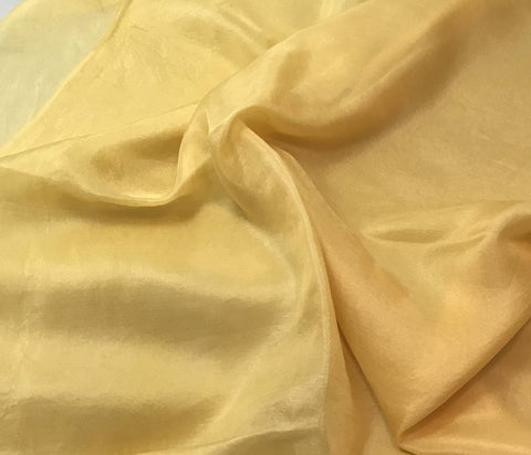 Golden Yellow - Hand Dyed Silk Habotai