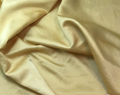 Golden Yellow - Hand Dyed Silk/Cotton Satin
