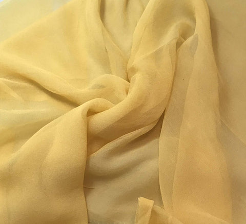 Golden Yellow - 3mm Hand Dyed Silk Gauze Chiffon