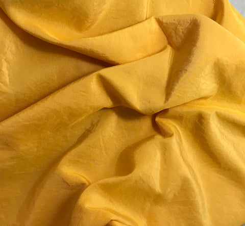 Golden Yellow - Hand Dyed Silk/ Cotton Habotai