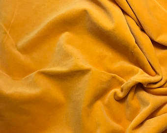 Golden Poppy - Hand Dyed Cotton Velveteen
