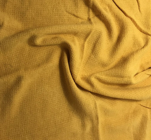 Golden Yellow - Hand Dyed Squares Weave Silk Noil
