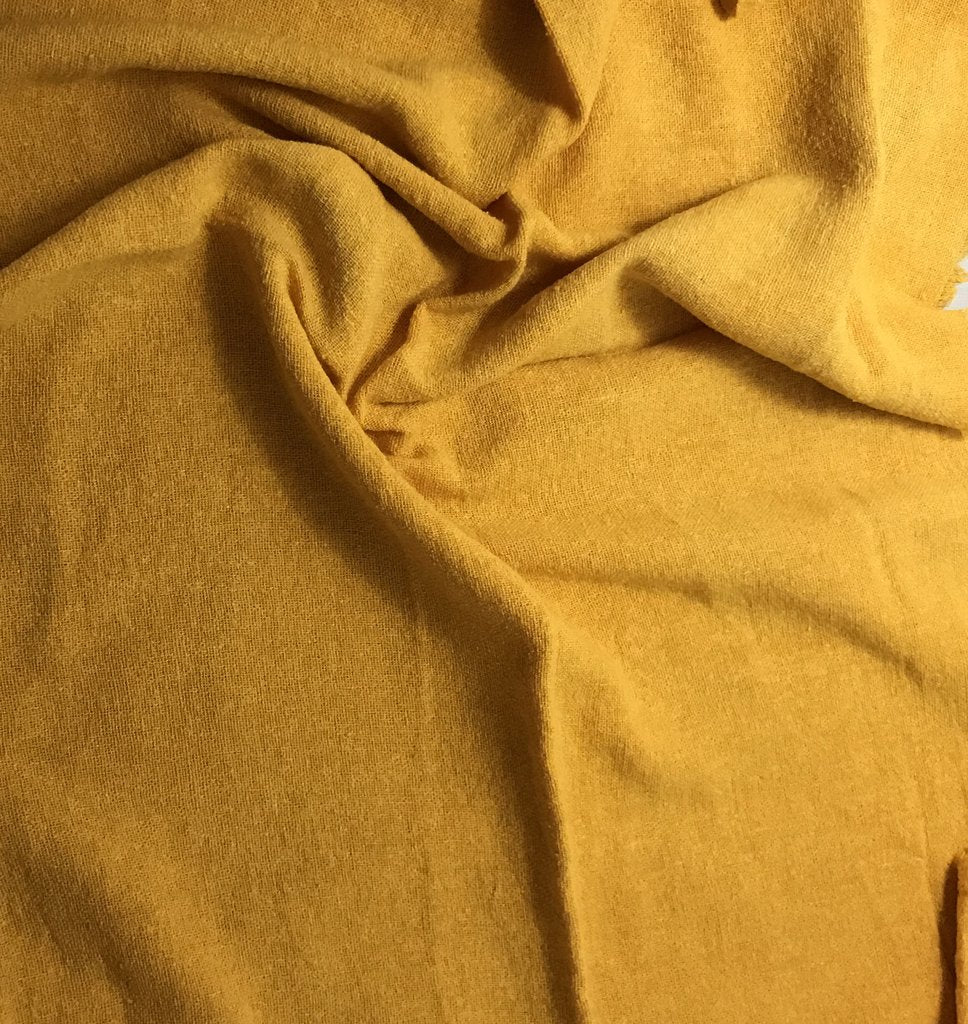 Golden Yellow - Hand Dyed Poplin Gauze Silk Noil