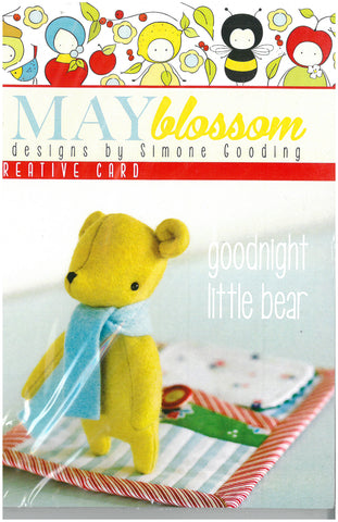 Goodnight Little Bear Sewing Pattern - May Blossom