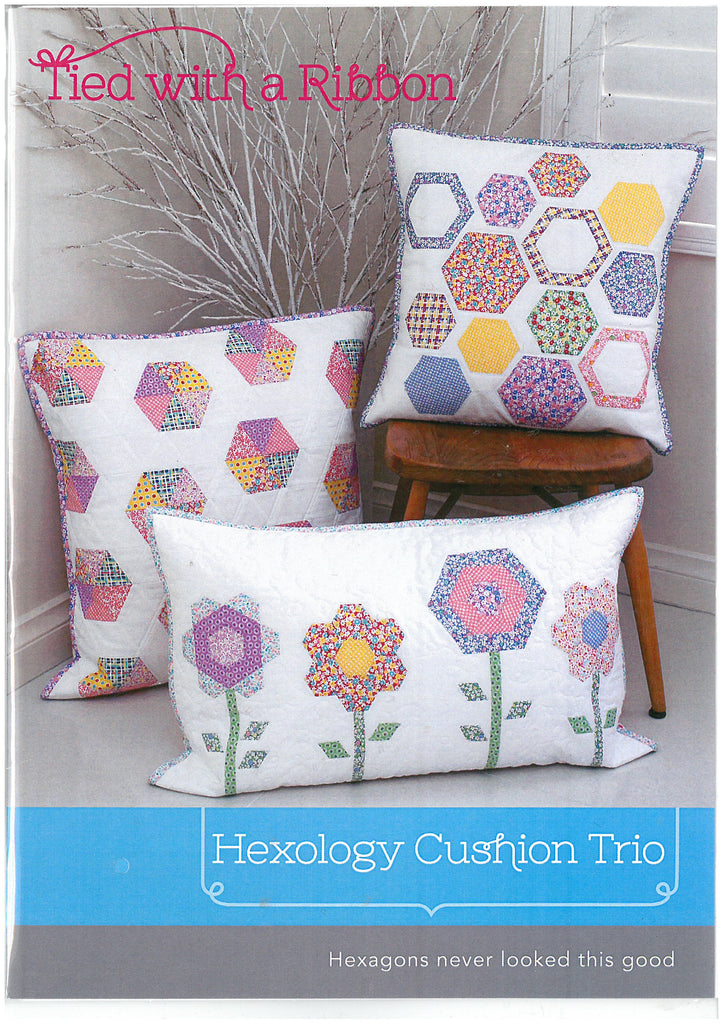 Hexology Cushion Trio - Tied with a Ribbon Sewing Pattern