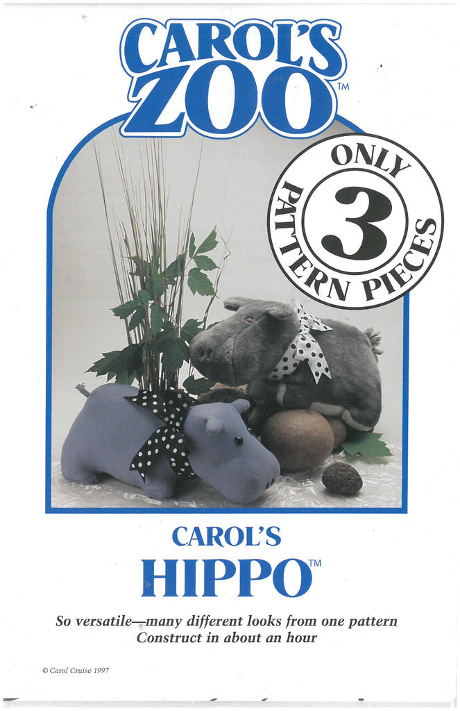 Hippo - Carol's Zoo Plush Pattern