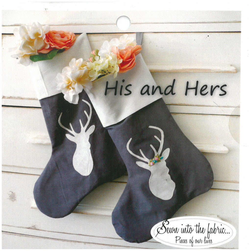 His and Hers Stocking Pattern - Sewn Into the Fabric...Pieces of our Lives
