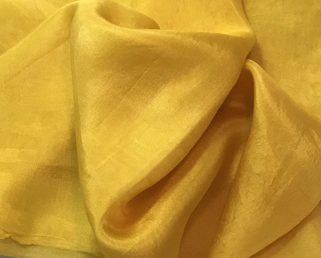 Honey Mustard Yellow - Hand Dyed Silk Habotai