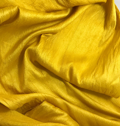Honey Mustard - Hand Dyed Silk Dupioni