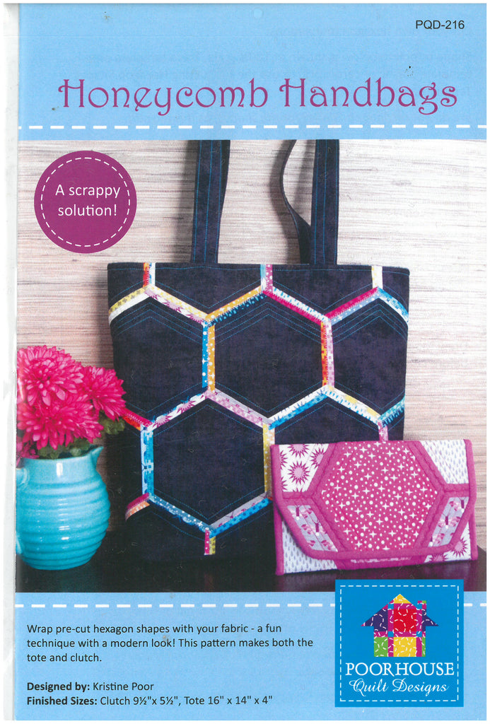 Honeycomb Handbags Tote Bag Pattern -Poor House Quilt Designs