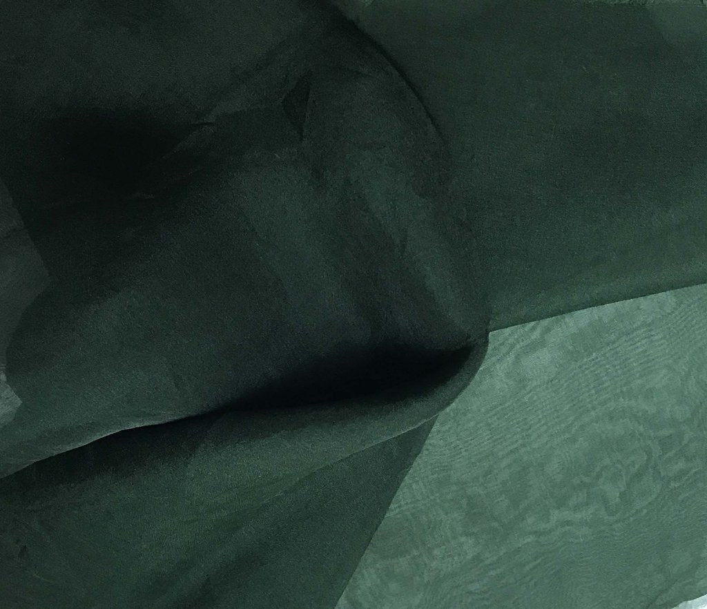 Hunter Green - Hand Dyed Silk Organza
