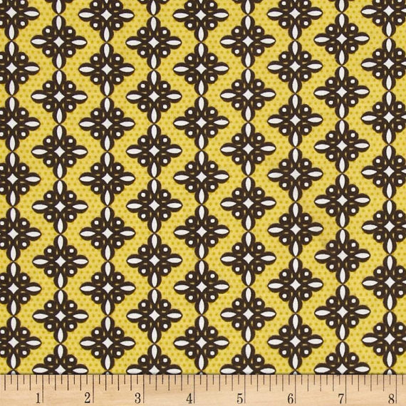 Birds and Blooms Spiro Brown Benatex - Cotton Quilting Fabric