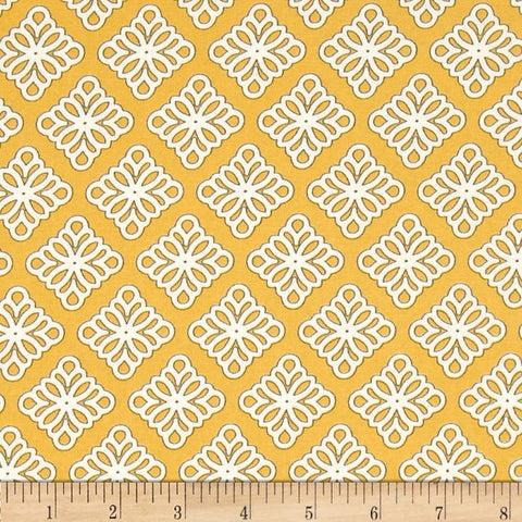 Windham - Governor's Palace - Medallion Gold - Cotton Quilting Fabric