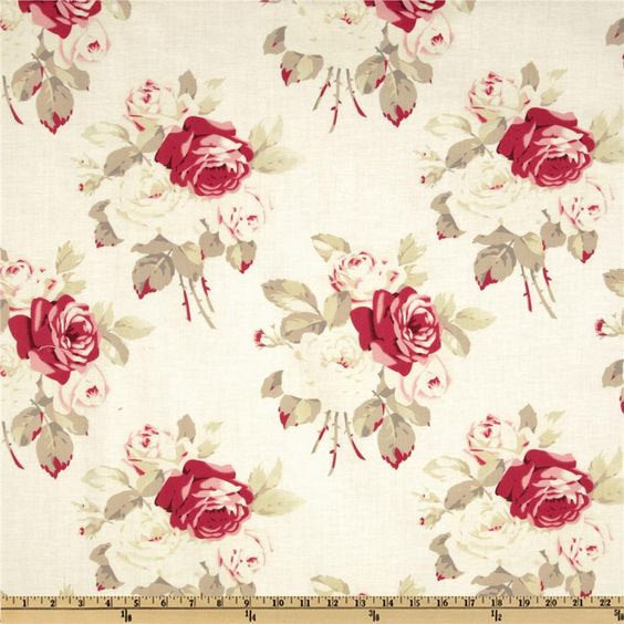 Westminster Antique Roses Petal - Tanya Whelan - Cotton Home Dec Fabric