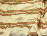 Gold & Rust Stripe - Silk Taffeta