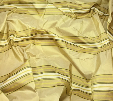 Gold Stripe - Silk Taffeta