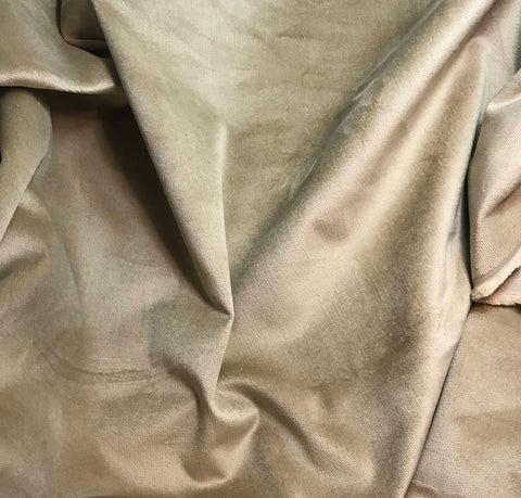 Medium Beige - Upholstery Velvet Fabric