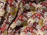 Mustard & Brick Medallions - Cotton Home Dec Velvet Fabric
