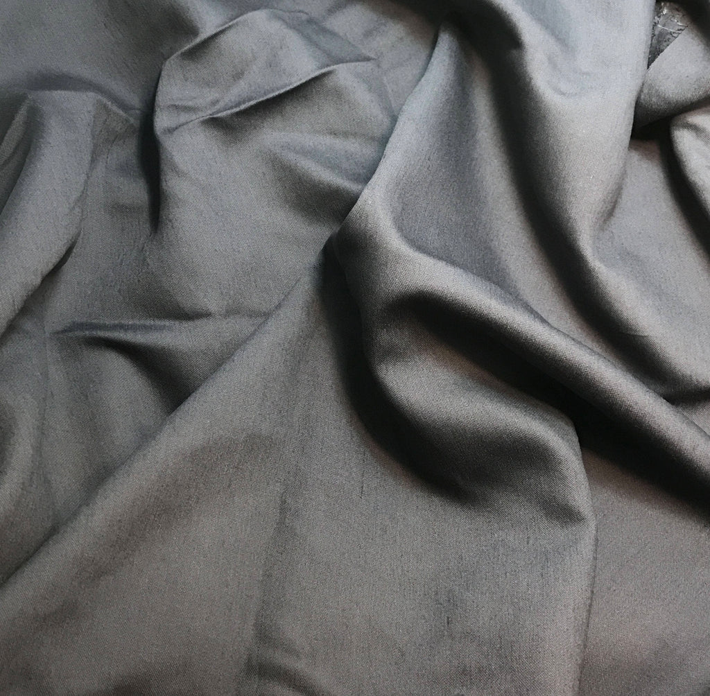 Charcoal Gray - Faux Silk Shantung Fabric