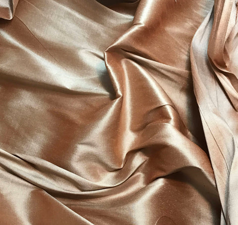 Muted Orange - Silk Taffeta Fabric