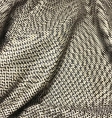 Chocolate Brown Chevron - Wool Suiting Fabric