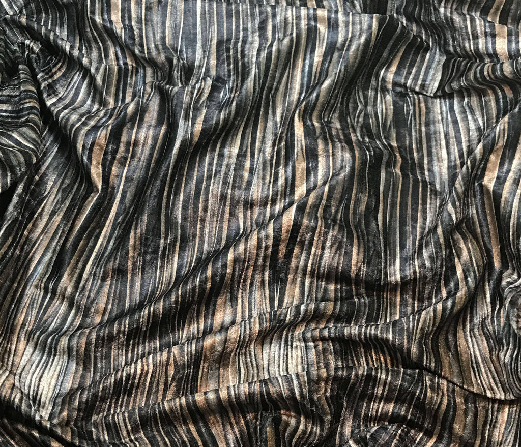 Abstract Stripes - Velvet Fabric