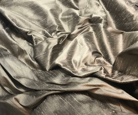 Brown Taupe - Silk Dupioni Fabric