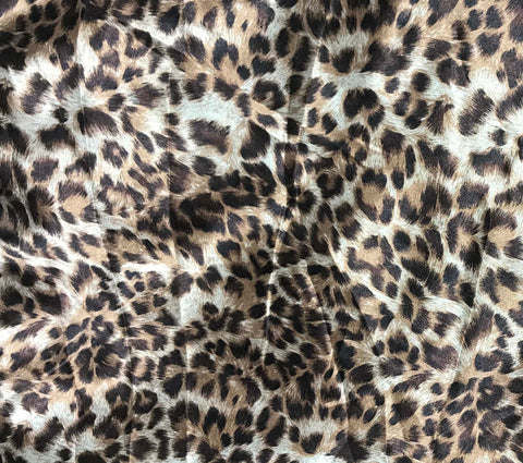 Leopard Spots - Faux Silk Charmeuse Satin Fabric