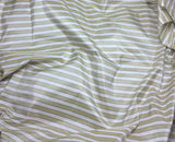 Golden Beige Stripe - Silk Taffeta