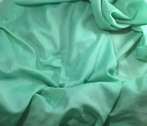 Mint Green - Silk/Cotton Voile Fabric