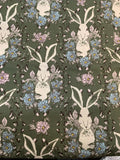 Rabbits on Olive Green - Forest Floor by Bonnie Christine for Art Gallery 100% Cotton Fabric