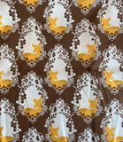 Cherished Deer Sepia - Sweet as Honey - by Art Gallery 100% Cotton Fabric