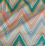 Green & Yellow Chevron - Fusions - by Art Gallery 100% Cotton Fabric