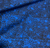 Blue Spiderwebs - Star Glaze - Batik by Mirah 100% Cotton Fabric