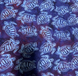 Legend Blue Turtles - Batik by Mirah 100% Cotton Fabric