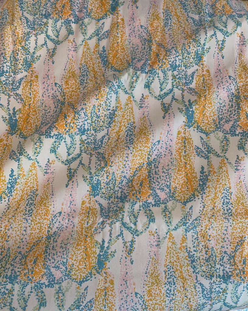 Blue & Yellow Dotted Floral - Millie Fleur - by Art Gallery 100% Cotton Fabric