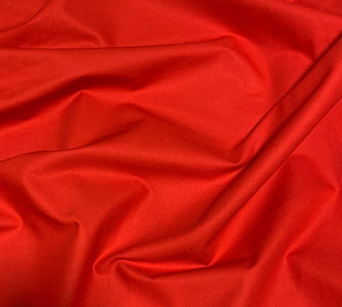 100% Cotton Basecloth Solid - Christmas Red - Paintbrush Studio Fabrics