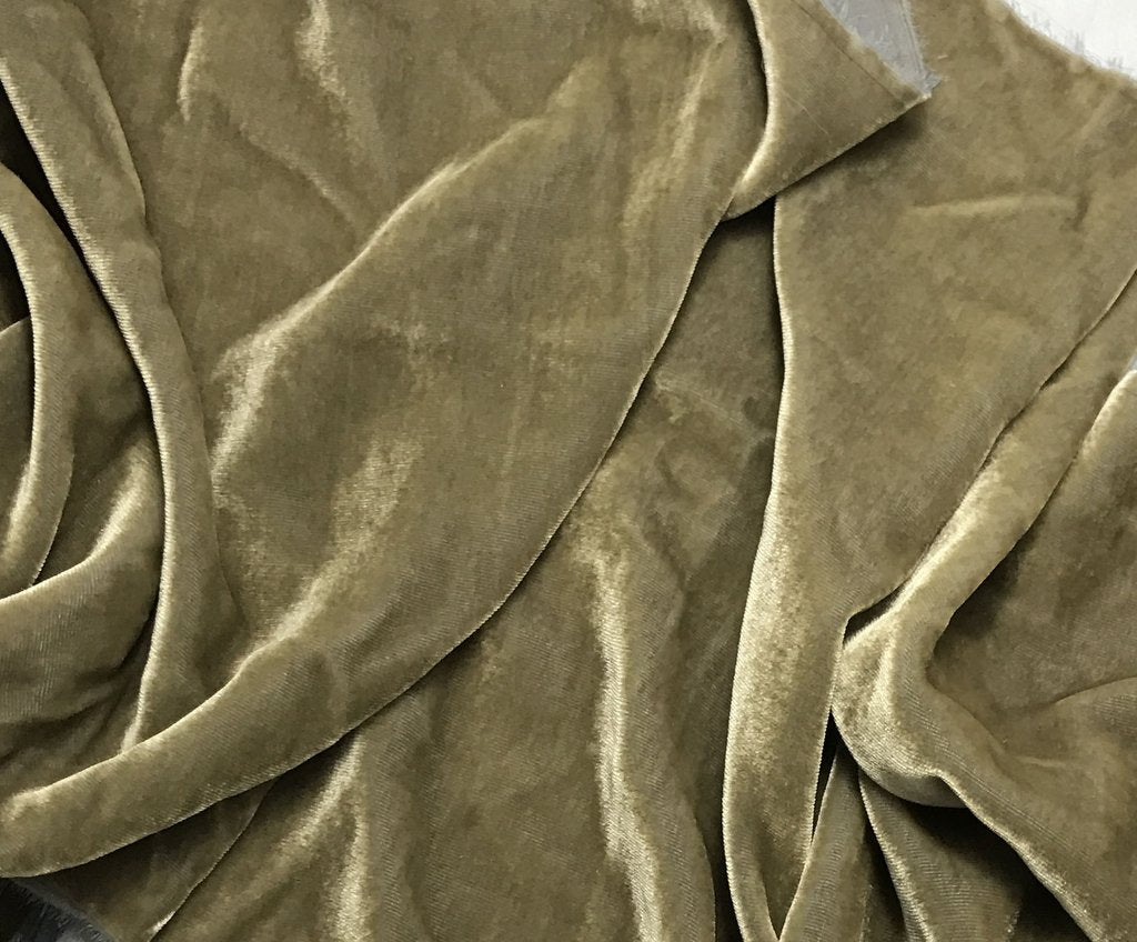 Iridescent Grayish Gold - Silk Velvet