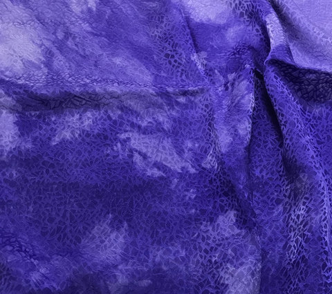 Iris Purple Pebbles - Hand Dyed Silk Jacquard
