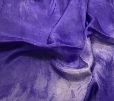 Iris Purple - Hand Dyed Silk Habotai