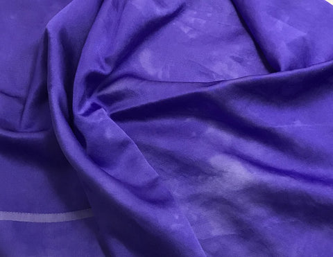 Iris Purple - Hand Dyed Silk/Cotton Satin