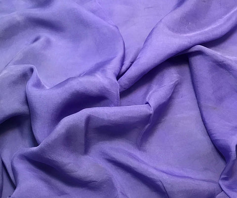 Iris Purple - Hand Dyed Soft Silk Organza