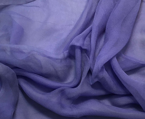 Iris Purple - 3mm Hand Dyed Silk Gauze Chiffon