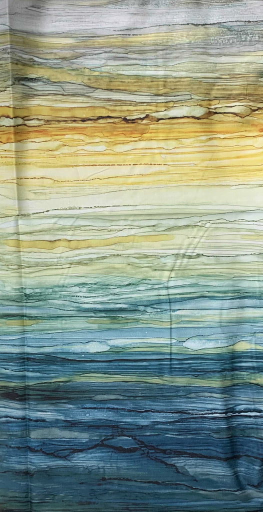 Full Width Ombre Teal/Multi - Journey - by Melanie Samra for Northcott Cotton Fabric