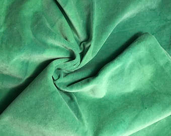 Kelly Green - Hand Dyed Cotton Velveteen