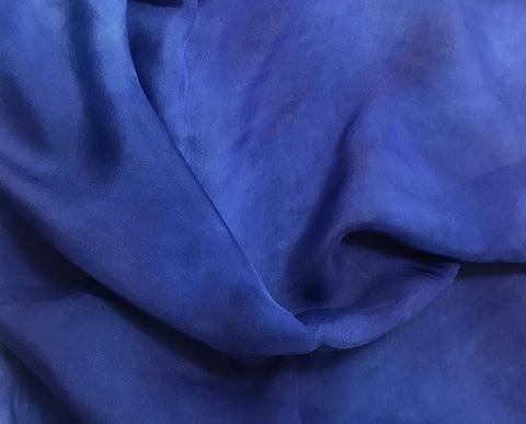 Lapis Blue - Hand Dyed Soft Silk Organza
