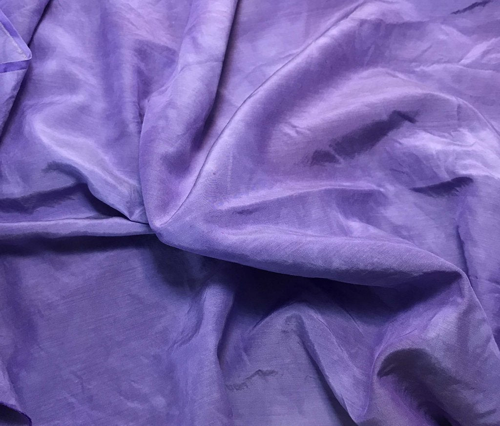 Lavender Purple - Hand Dyed Silk/ Cotton Habotai