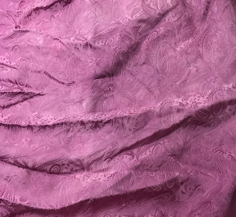 Lilac Paisley - Hand Dyed Silk Jacquard