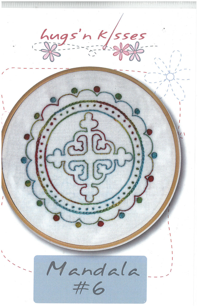 Mandala #6 Iron-on and Stitch Pattern - Hugs' n Kisses