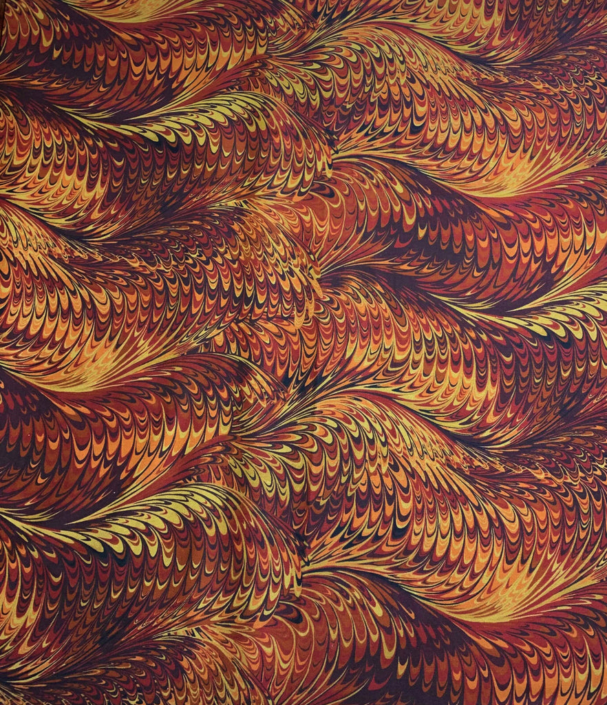 Boho Butterscotch Marble 1 - Art of Marbling - by Heather Fletcher for Northcott Cotton Fabric